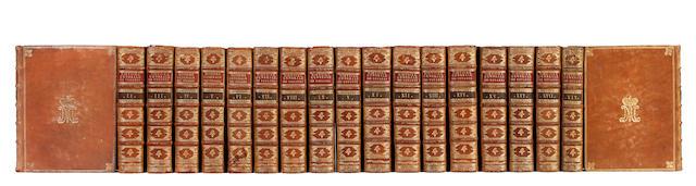 [PREVOST d'EXILES (ANTOINE FRANÇOIS)] Histoire générale des voyages, ou nouvelle collection de toutes les relations de voyages par er et par terre, qui ont été publiées, 19 vol. (of 20)