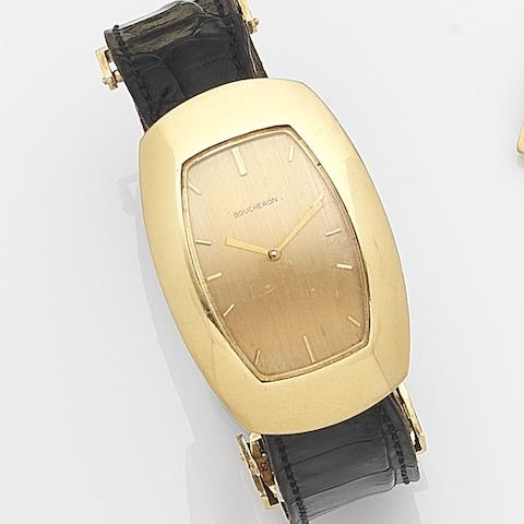 Boucheron. A gold manual wind wristwatchCase No.70946, Circa 1970