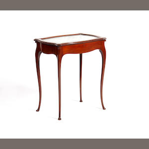 An early 20th century mahogany vitrine table
