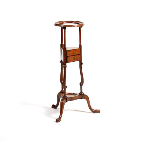 A George II style walnut wash stand