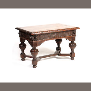 An oak 17th century style centre table 19th century