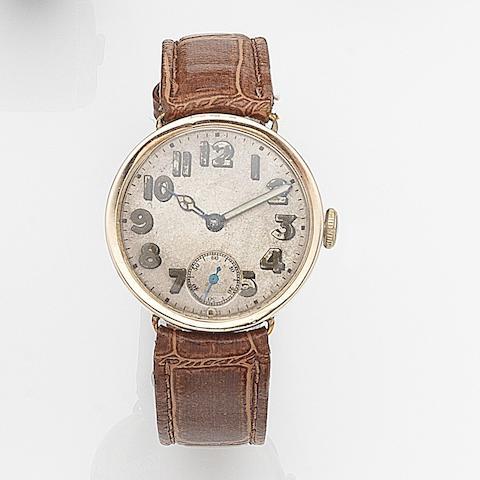 Rolex. A 9ct rose gold manual wind wristwatch Ref:309, Circa 1925