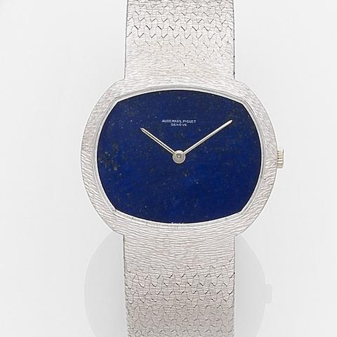 Audemars Piguet. A lady's 18ct white gold manual wind bracelet watch Ref:5393, Case No.63531, Movement No.119518, Circa 1975