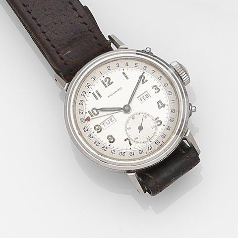 Movado. A stainless steel manual wind triple calendar wristwatchRef:14788, Case No.484961, Circa 1960