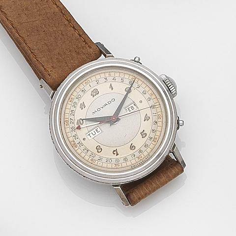Movado. A stainless steel manual wind triple calendar wristwatch Ref:14819, Case No.B483914, Circa 1960
