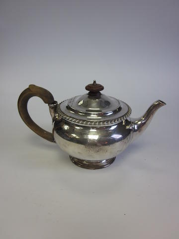 A George IV silver teapot by Robert Garrard, London 1824