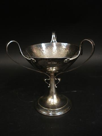 Arts and Crafts silver pedestal bowl