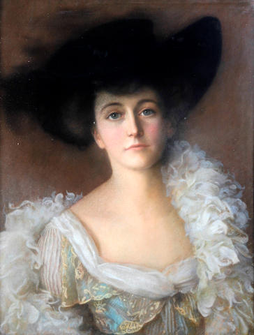 British School, (circa 1890's) Portrait of Cecilia Elizabeth Mary Agnes