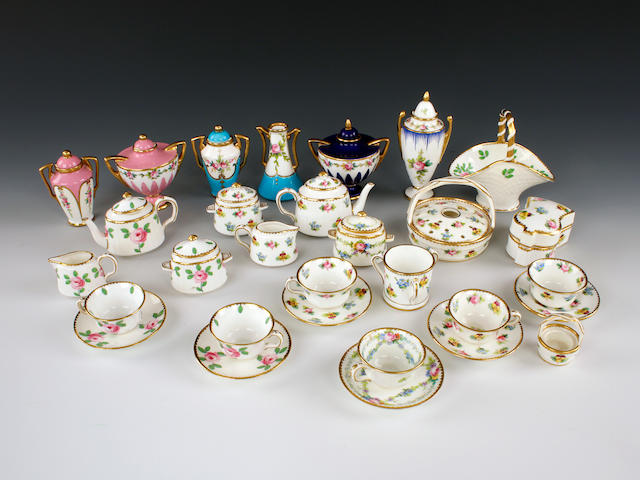 A large selection of Minton miniatures, late 19th-early 20th century