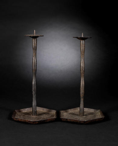 A pair of Korean candelesticks Joseon Dynasty