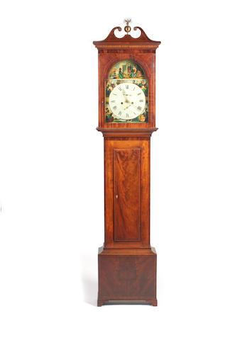 A Regency mahogany longcase clock