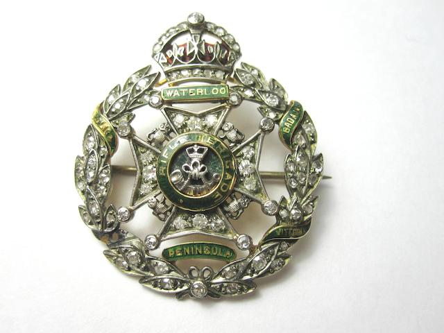 A Rifle Brigade regimental sweetheart brooch