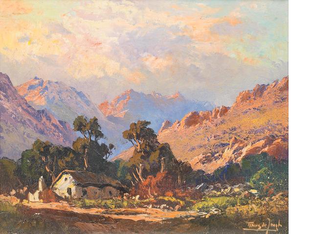Marthinus (Tinus) Johannes de Jongh (South African, 1885-1942) Cape cottage