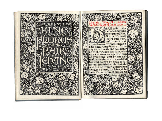 MORRIS (WILLIAM) The Tale of King Florus and the fair Jehane
