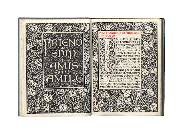 KELMSCOTT PRESS -- MORRIS (WILLIAM) Of the Friendship of Amis and Amile, LIMITED TO 500 COPIES, 1894; and 2 others (3)
