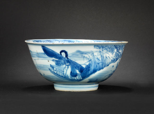 A blue and white bowl 17th century