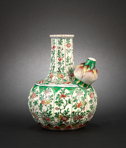 An enamelled ewer, kendi Kangxi