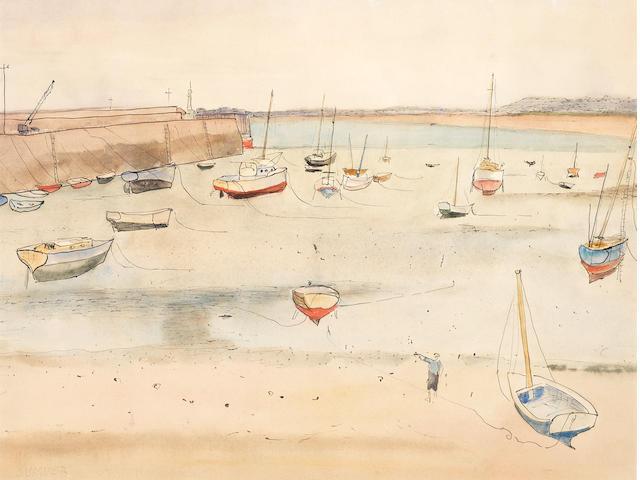 Maud Frances Eyston Sumner (South African, 1902-1985) Docked boats