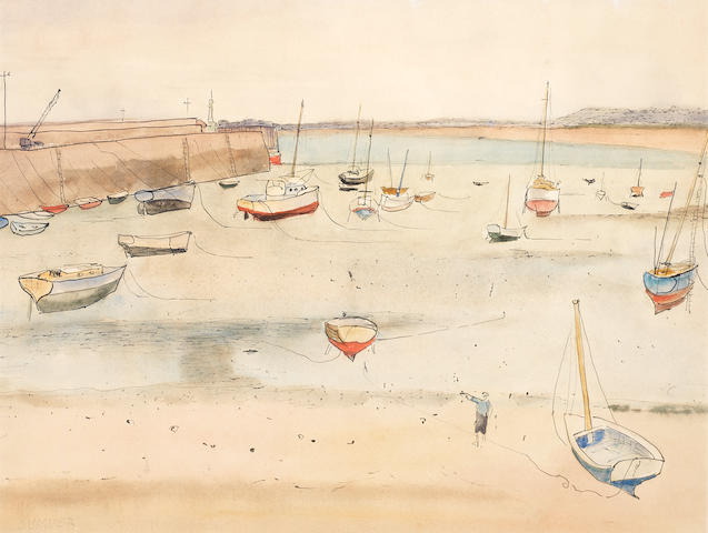 Maud Frances Eyston Sumner (South African, 1902-1985) Docked boats