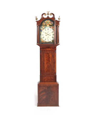 A mid-19th century mahogany longcase clock inscribed Young Dundee