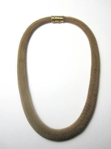 A mesh-link necklace