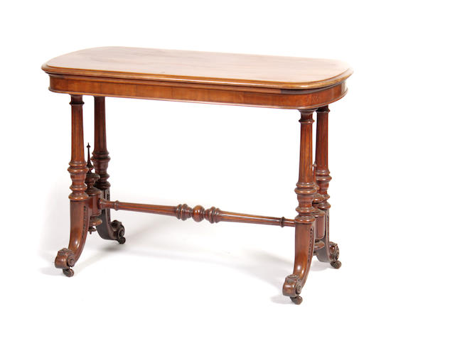 A 19th century mahogany centre table