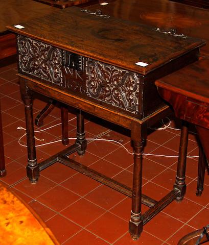 An 18th Century oak Bible box