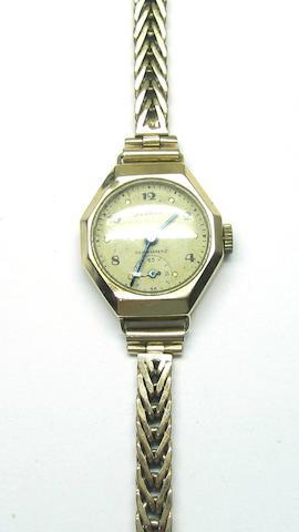 A lady's wristwatch, by Derrick, circa 1960