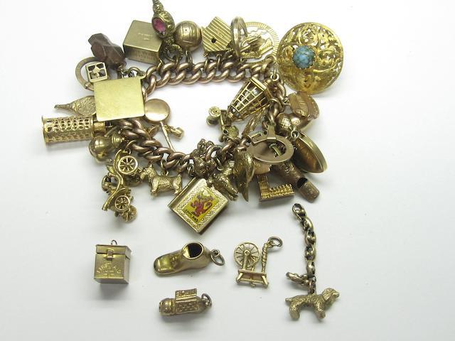 A mid 20th century charm bracelet