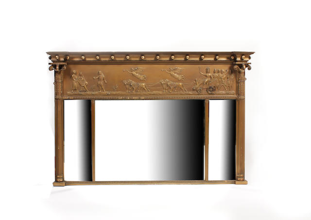 A Regency overmantel mirror