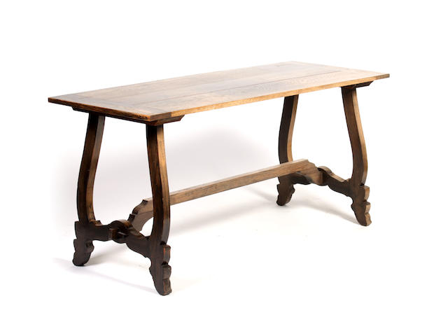 A Continental style oak side table