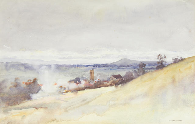 Sir William Russell Flint R.A., P.R.W.S. (British, 1880-1969) Vale of Clywd