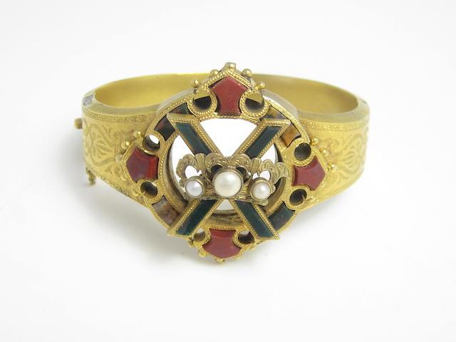 A Scottish hardstone bangle