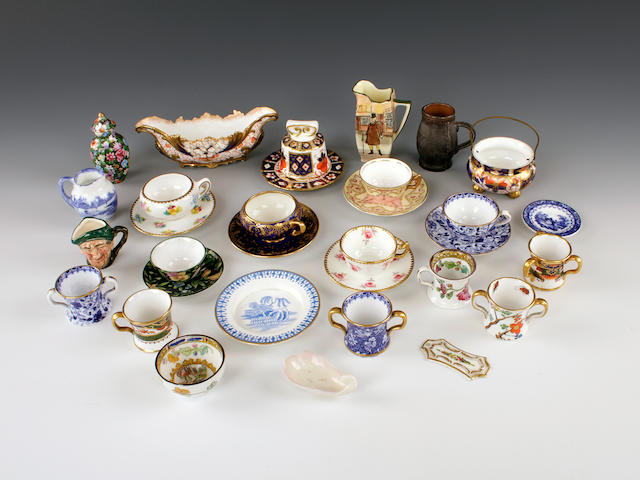 A selection of Copeland Spode, Doulton and other later miniatures