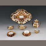 A RCD Imari toy cabaret set and a coffee pot