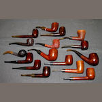 A collection of thirty two pipe's of  smoking interest: