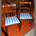 A set of six Regency mahogany bar back dining chairs, probably Scottish