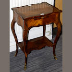 A French kingwood occasional table late 19th/early 20th Century