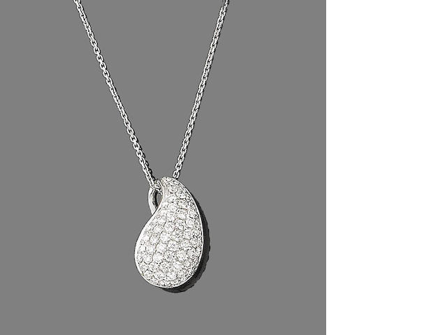 A diamond pendant necklace,  by Chimento