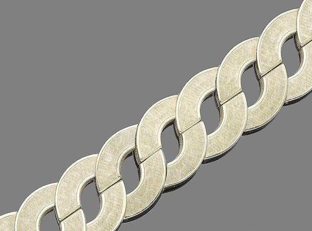 A fancy-link bracelet