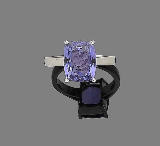 A tanzanite ring