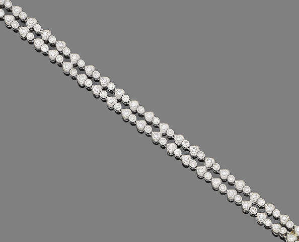 A diamond two-line bracelet