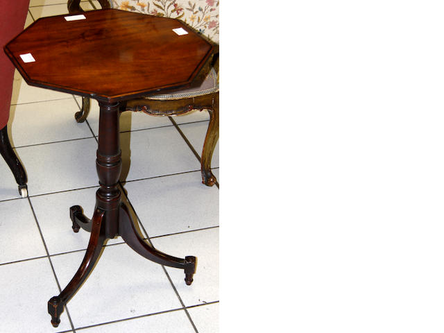 A Regency mahogany occasional table