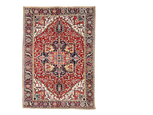A Heriz carpet, North West Persia, 363cm x 260cm