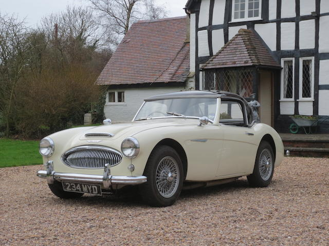 Two owners, 64,000 miles from new,1961 Austin-Healey 3000 MkII Roadster  Chassis no. HBT7/14945 Engine no. 1666