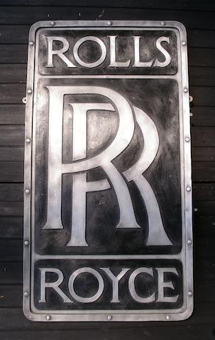 A 'Rolls-Royce' badge garage display emblem,