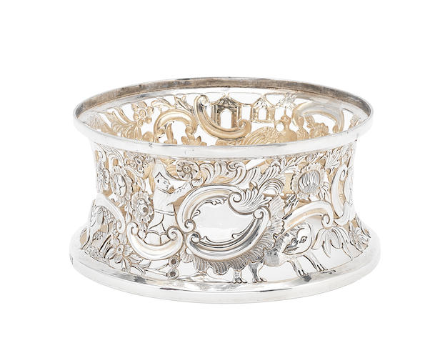 An Edwardian Britannia standard silver dish ring by Maurice Freeman, London 1906