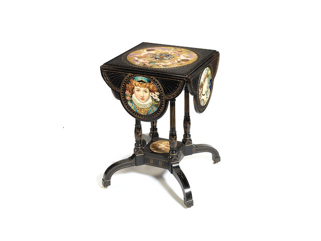 William S. Coleman An Important Aesthetic Movement Salon Table, circa 1875
