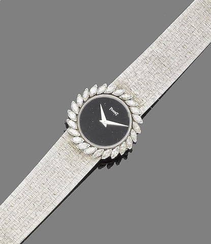 A diamond-set wristwatch, by Piaget