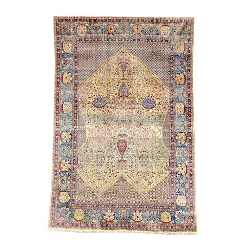 A silk Kashan carpet, Central Persia, 310cm x 211cm
